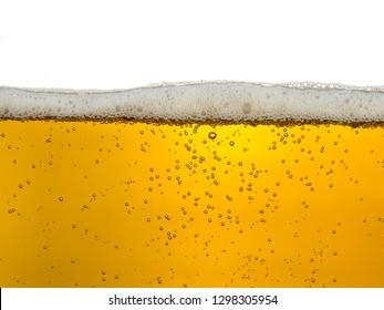 beer foam close-up