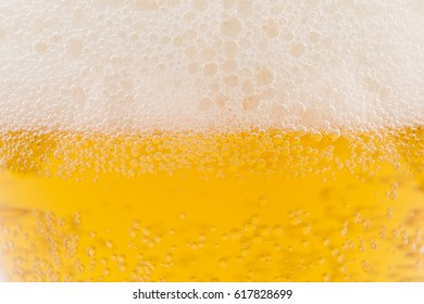 Beer froth close-up background
