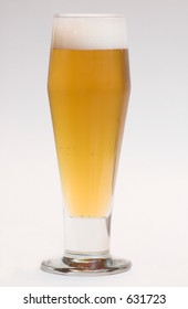 Beer with full head in beer glass