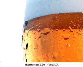 Beer glass background