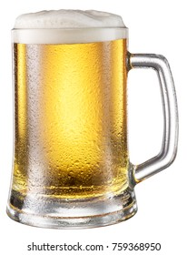 Beer Glass isolated. File contains clipping paths.
