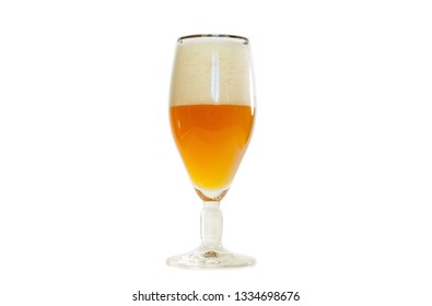 Beer in the glass isolated on a white background