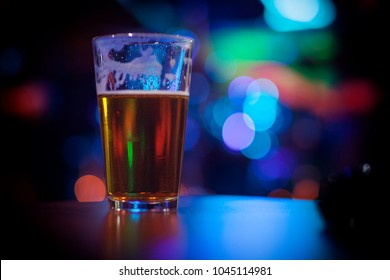 Beer glass & nightlife