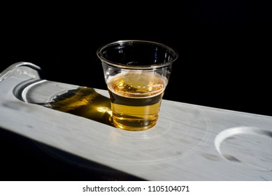 Beer in a glass on an aircraft tea table isolated object unique photograph