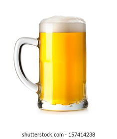 Beer glass on a white background.