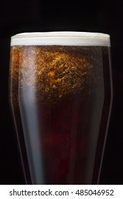 Beer in Glass, Selective focus, Some noise on the image