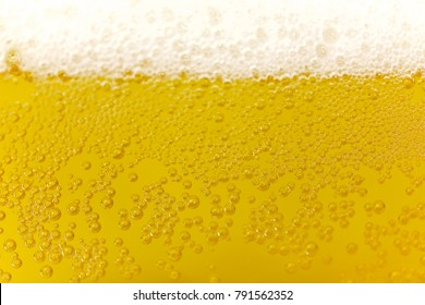 Beer in the glass as a texture.