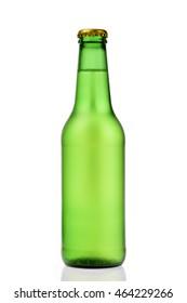 Beer green bottle cold