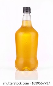 Beer growler with lager beer inside isolated on white background. Great for digital mockup design