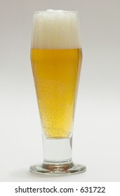 Beer with Head in beer glass