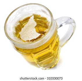 Beer head  in the shaped of Ethiopia and a beer.(series)