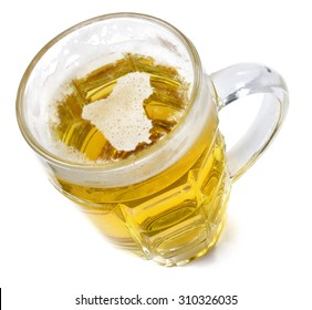 Beer head  in the shaped of Iraq and a beer.(series)