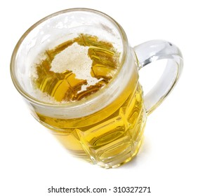 Beer head  in the shaped of Ontario and a beer.(series)
