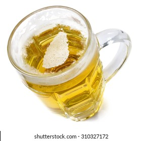 Beer head  in the shaped of Sri Lanka and a beer.(series)