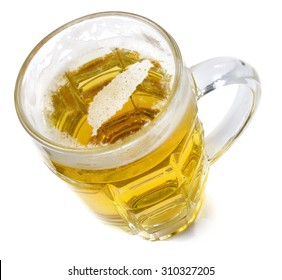 Beer head  in the shaped of Taiwan and a beer.(series)