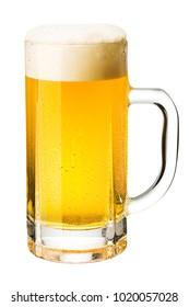 Beer into a beer mug