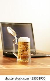 beer jug and Notebook