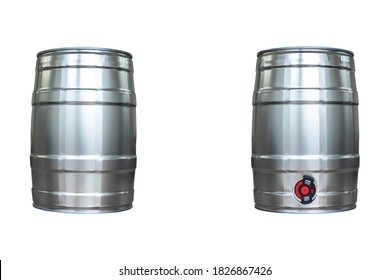 Beer keg isolated on white background with clipping path