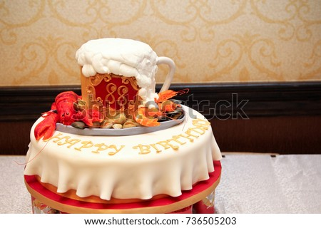 Beer Mug Birthday Cake 88 Year Stock Photo Edit Now 736505203