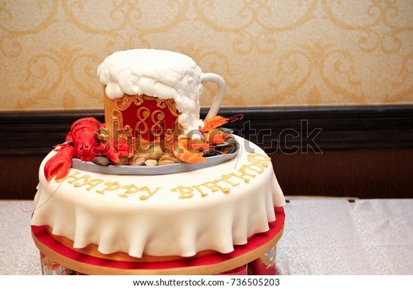 Marvelous Beer Mug Birthday Cake 88 Year Stock Photo Edit Now 736505203 Personalised Birthday Cards Paralily Jamesorg