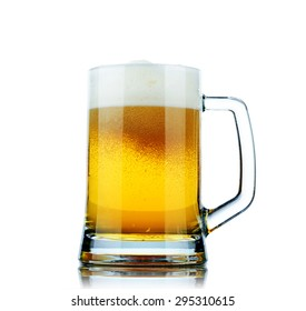 Beer mug isolated on white background. File contains a path to isolation.