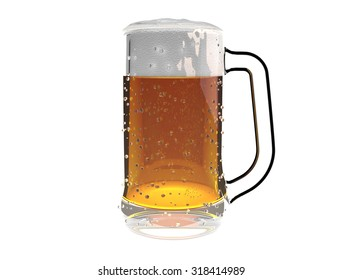 Beer mug isolated on a white background (3D Render)