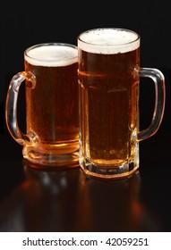 Beer mug on the table