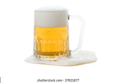 Beer mug with white background