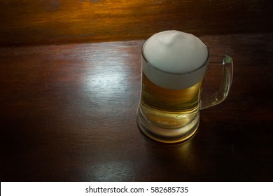 Beer on the table image for you mind idea