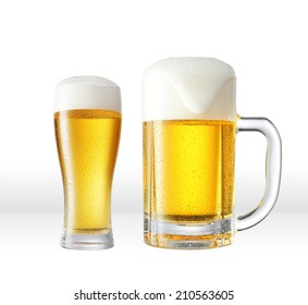 the beer on white