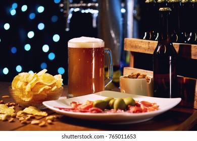 Beer party indoors