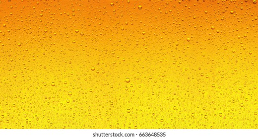 Beer pattern with water drops on aquarium surface.