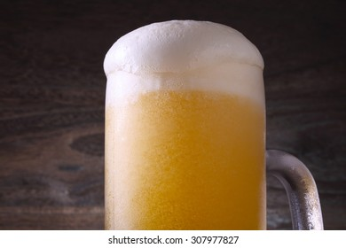 Beer is poured