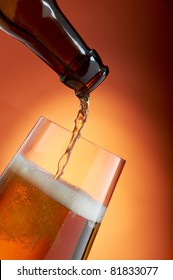 Beer pouring into the glass