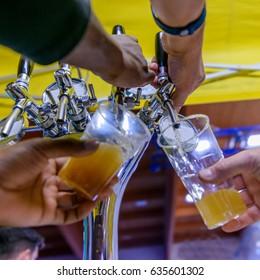 Beer, selective focus