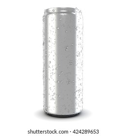 Beer and soda can mock up isolated on white background. 3D illustration