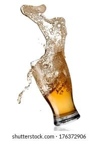 Beer spilling.