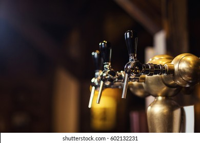 beer tap at the bar