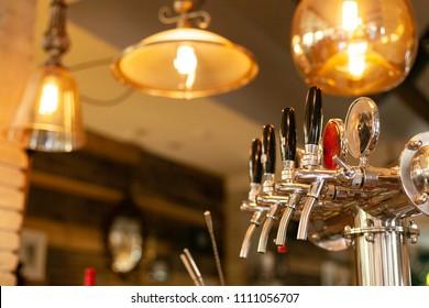 Beer tap in barse for bottling beverages