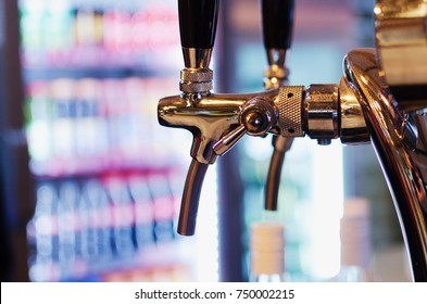 Beer Tap in Restaurant lager beer and craft beer