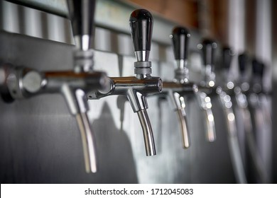 Beer taps bar brewery pints