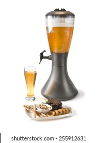 Beer Tower and snack