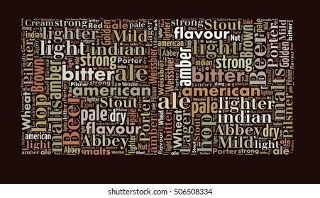 Beer word cloud, words related to beer