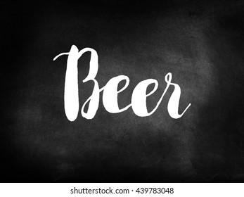 Beer written on a blackboard