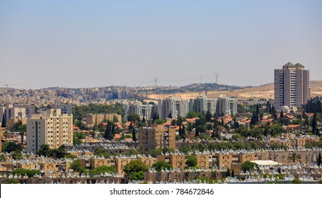 BEERSHEBA, ISRAEL - MAY 12, 2016: Old residential district with tall buildings in Beersheba