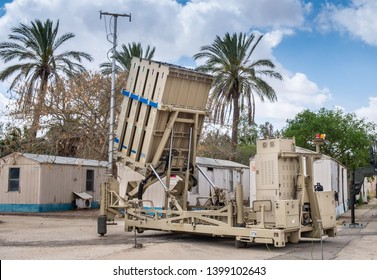 BEER-SHEVA, HATZERIM, ISRAEL - MAY 9, 2019: Iron Dome Air Defence Missile System presented at Hatzerim Israel Airforce Museum