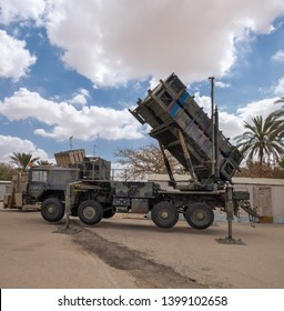 BEER-SHEvA, HATZERIM, ISRAEL - MAY 9, 2019: MIM-104 Patriot, a surface-to-air missile (SAM) system presented on military show