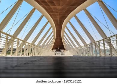 Beersheva, Israel. October 12, 2018. View on new bridge in Beersheva.