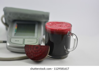 Beet juice with blood pressure pass