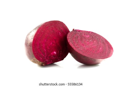 beet red on a white background
